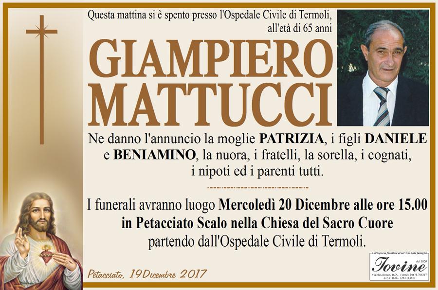Giampiero Mattucci – 19/12/2017 – Petacciato (CB) – Onoranze funebri Iovine