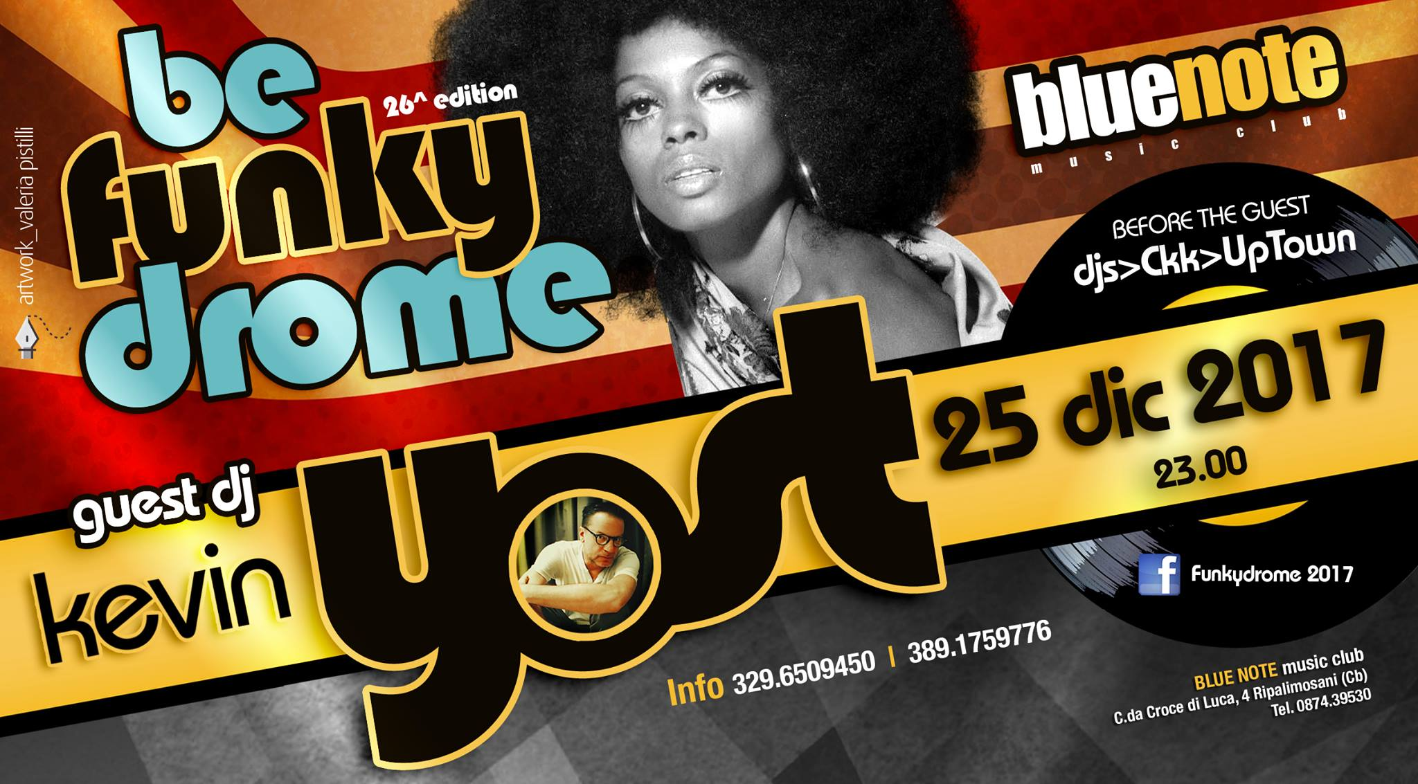 """EVENTI – """"Be Funky Drome"""", al Blue Note la 26^ edizione"""