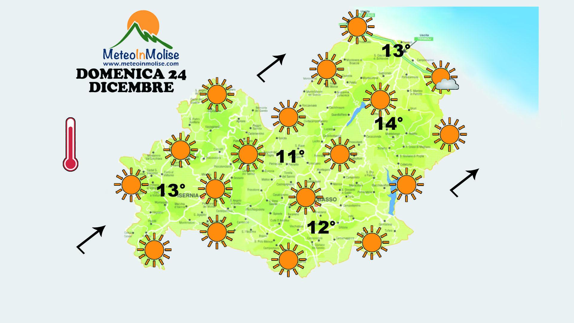 METEO IN MOLISE – Previsioni Meteo Natale: più caldo e stabile