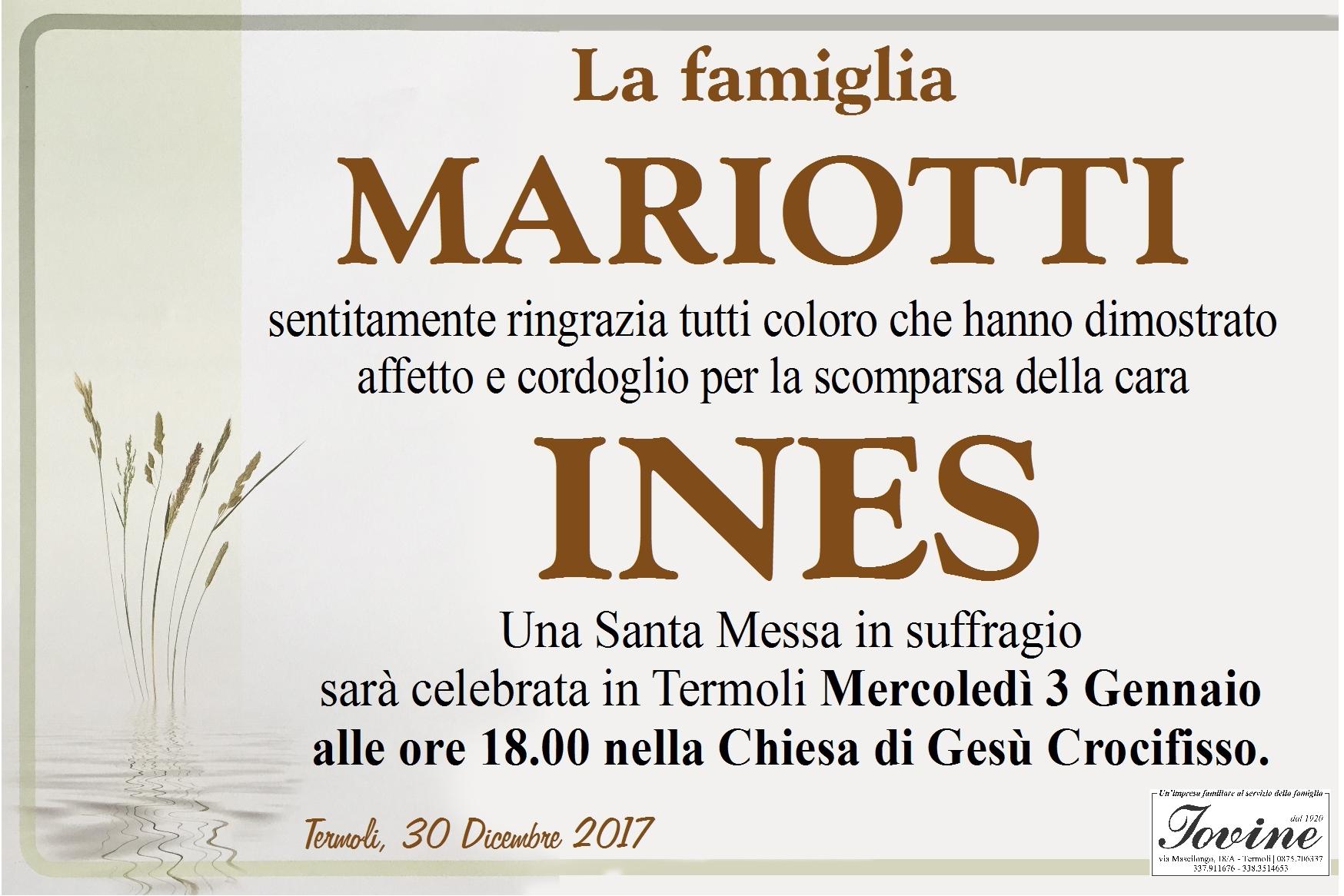 Ringraziamento Famiglia Mariotti – Termoli