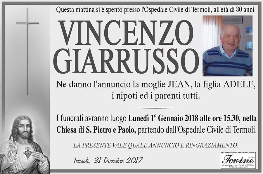 Vincenzo Giarrusso – 31/12/2017 – Termoli – Onoranze funebri Iovine
