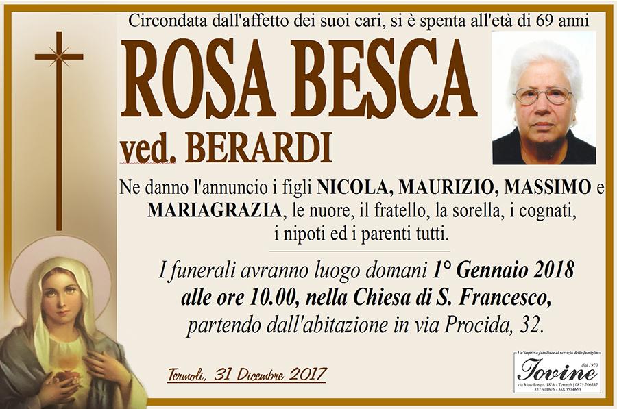 Rosa Besca – 31/12/2017 – Termoli – Onoranze funebri Iovine