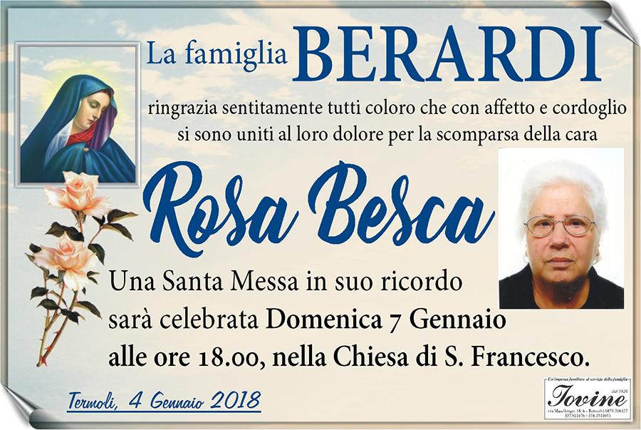 Ringraziamento Famiglia Berardi – Termoli