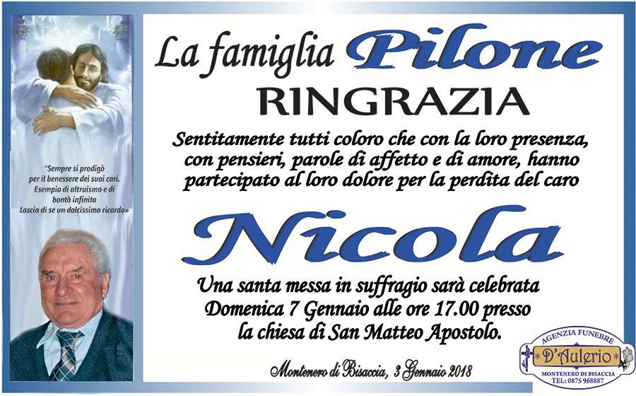 Ringraziamento Famiglia Pilone – Montenero di Bisaccia (CB)