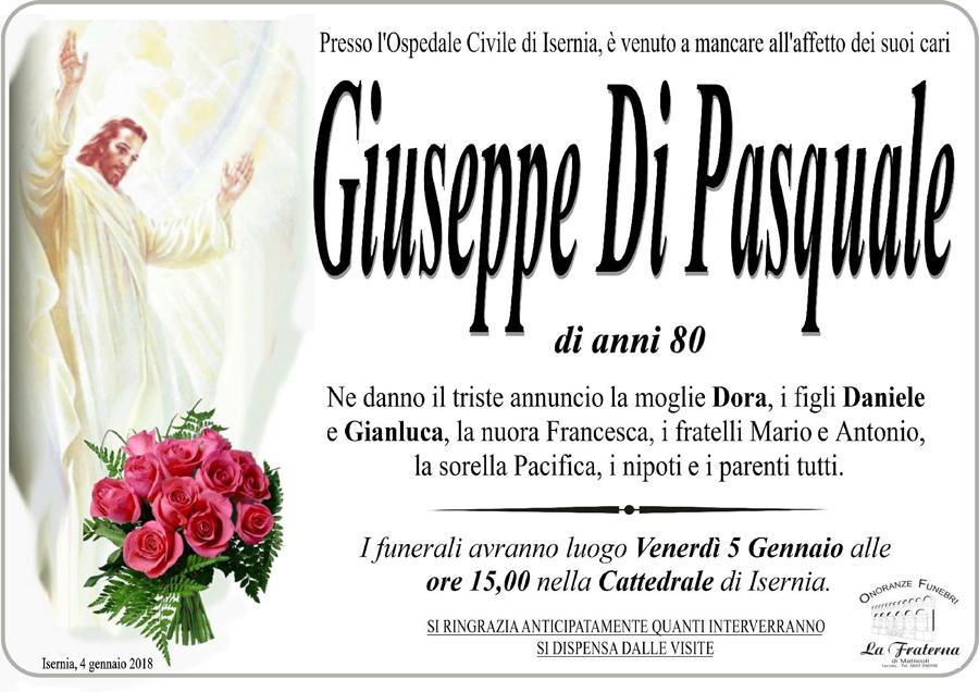 Giuseppe Di Pasquale – 04/01/2018 – Isernia – Onoranze funebri La Fraterna