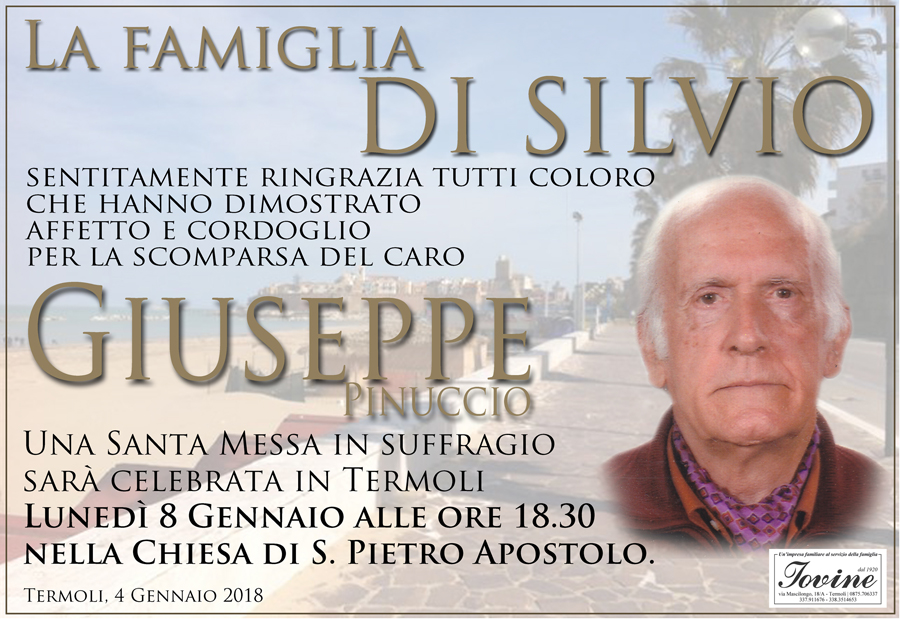 Ringraziamento Famiglia Di Silvio – Termoli