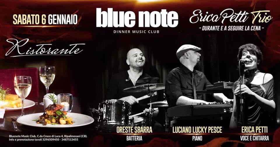 EVENTI – Erica Petti Trio nell'Epifania del Blue Note