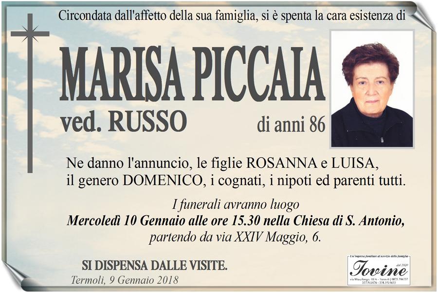 Marisa Piccaia – 09/01/2018 – Termoli – Onoranze funebri Iovine