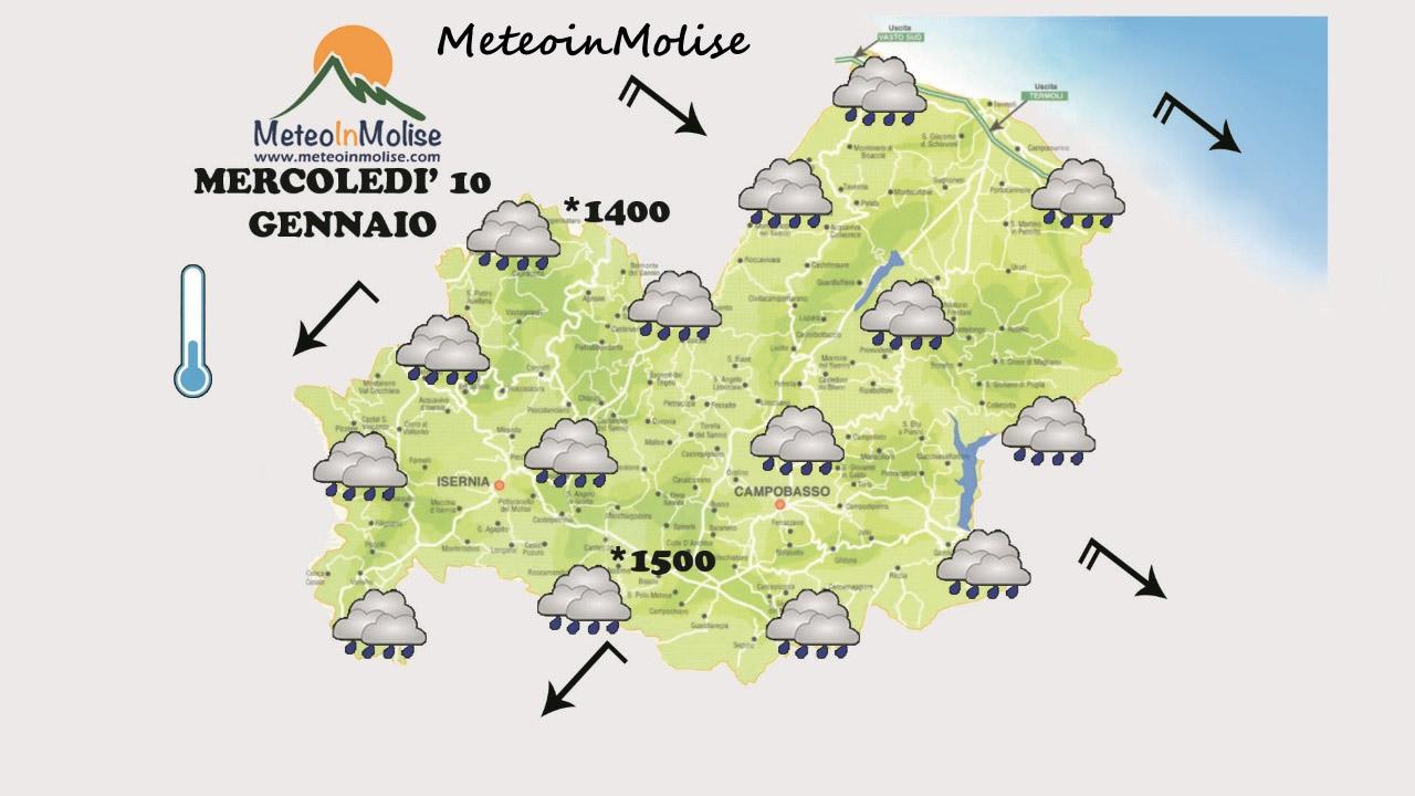 METEO IN MOLISE – Calo termico e tempo instabile