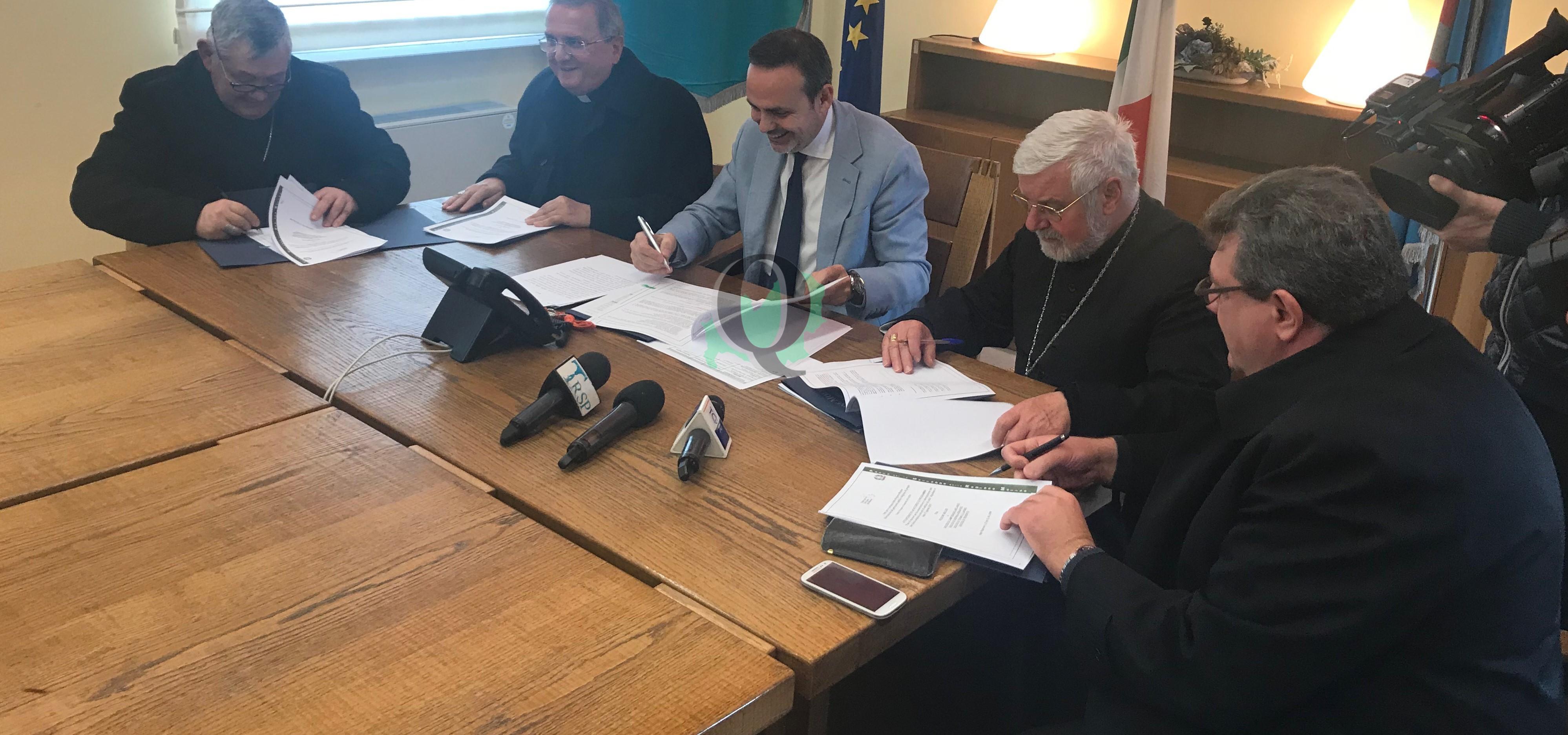 Regione-Diocesi, sottoscritto protocollo per conservazione e valorizzazione edifici di culto