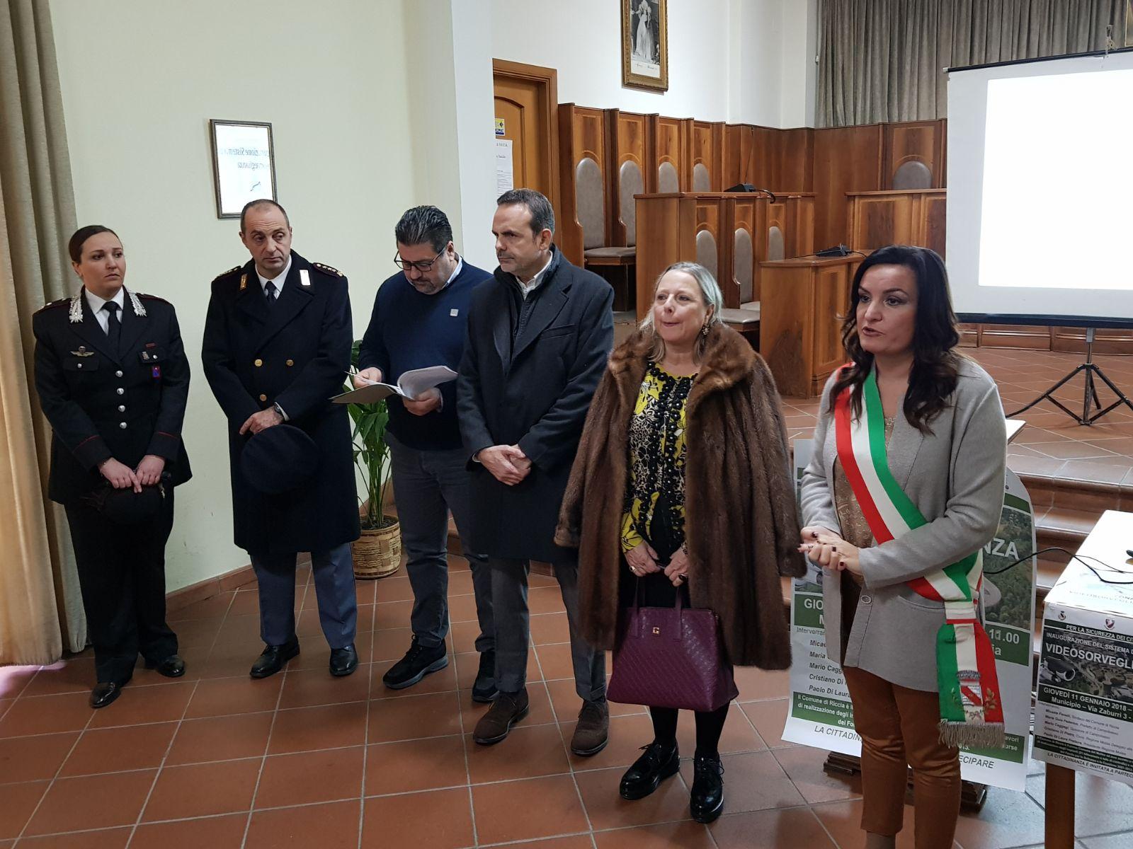 Inaugurato sistema di videosorveglianza a Riccia, prossimi all'accensione Campomarino e Bojano