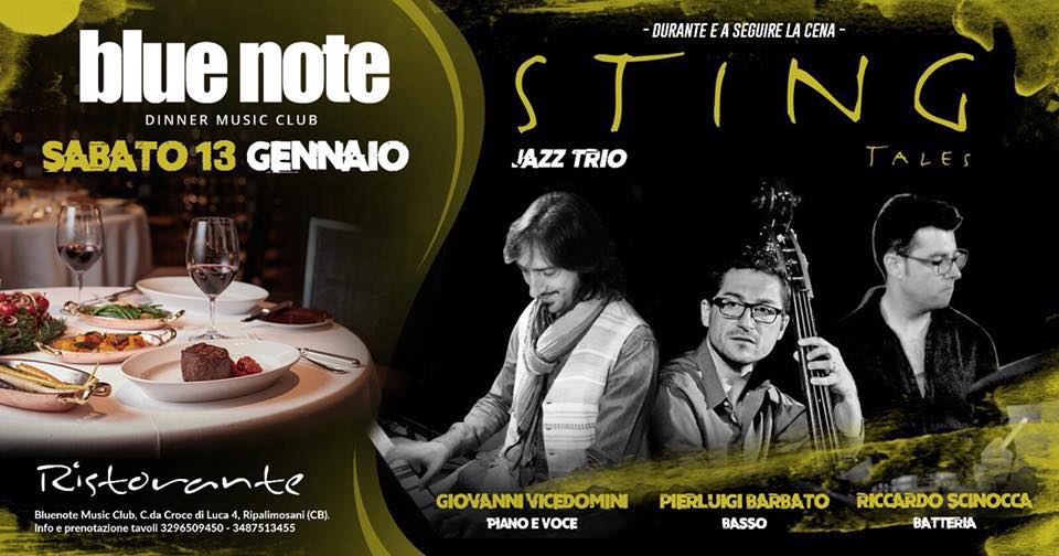 EVENTI – Sting jazz trio, sabato al Blue Note
