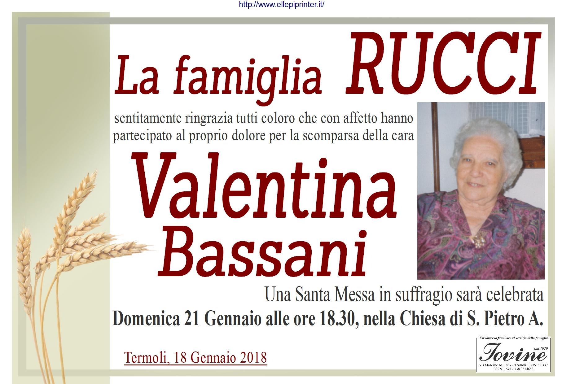 Ringraziamento Famiglia Rucci – Termoli
