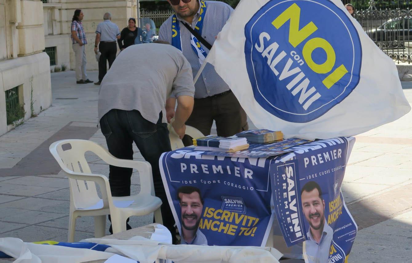Lega-Salvini Premier, gazebo nelle principali piazze della regione