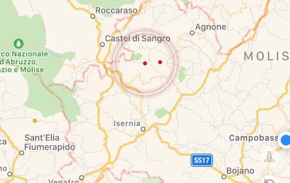 Lieve scossa di terremoto in Alto Molise, epicentro Vastogirardi