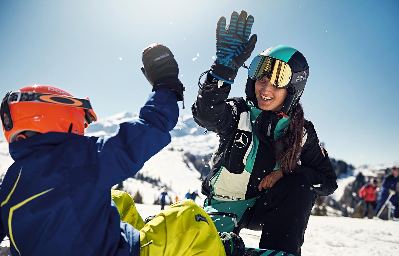 Non c'è bisogno di vedere per sciare