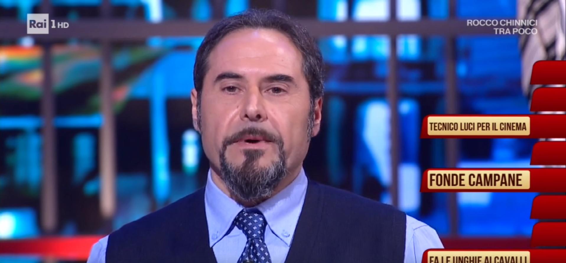 Pasquale Marinelli tra gli 'ignoti' del noto quiz televisivo di Amadeus