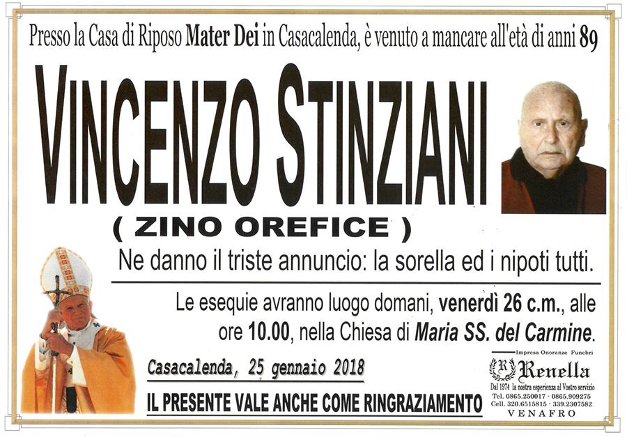 Vincenzo Stinziani – 25/01/2018 – Casacalenda (CB) – Impresa onoranze funebri Renella