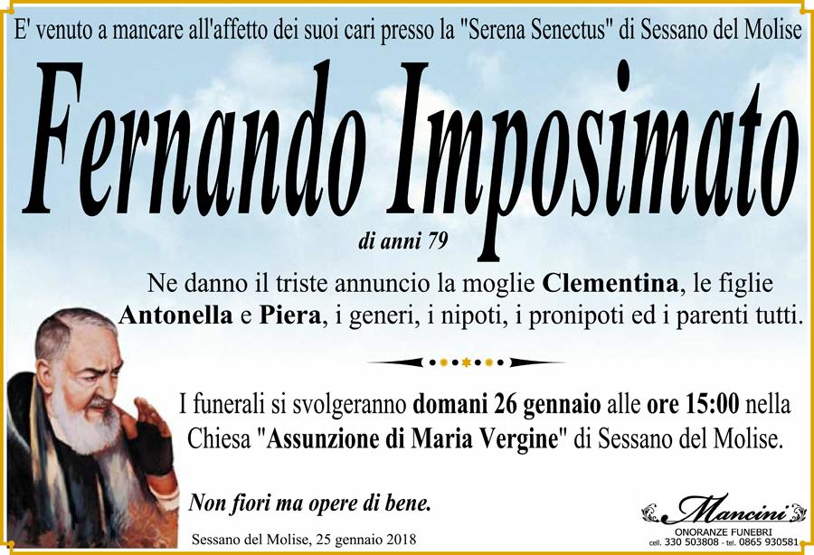 Fernando Imposimato – 25/01/2018 – Sessano del Molise (IS) – Onoranze funebri Mancini