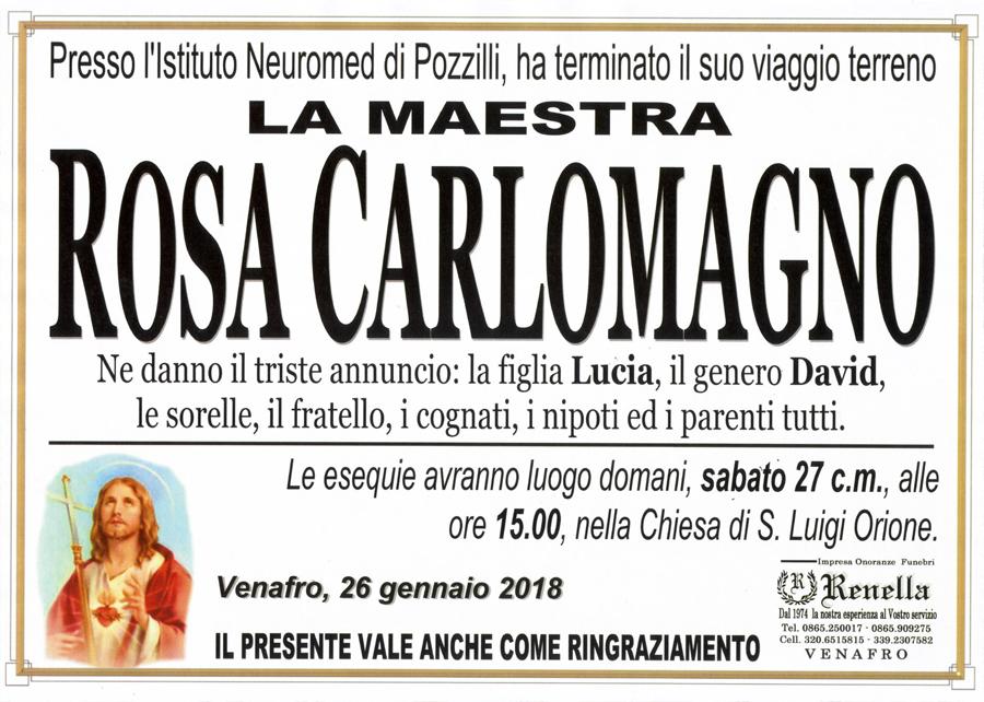 Rosa Carlomagno – 26/01/2018 – Venafro – Impresa onoranze funebri Renella