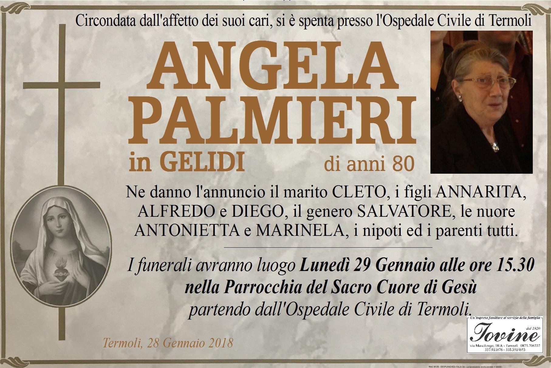 Angela Palmieri, 28/01/2018, Termoli – Onoranze Funebri Iovine