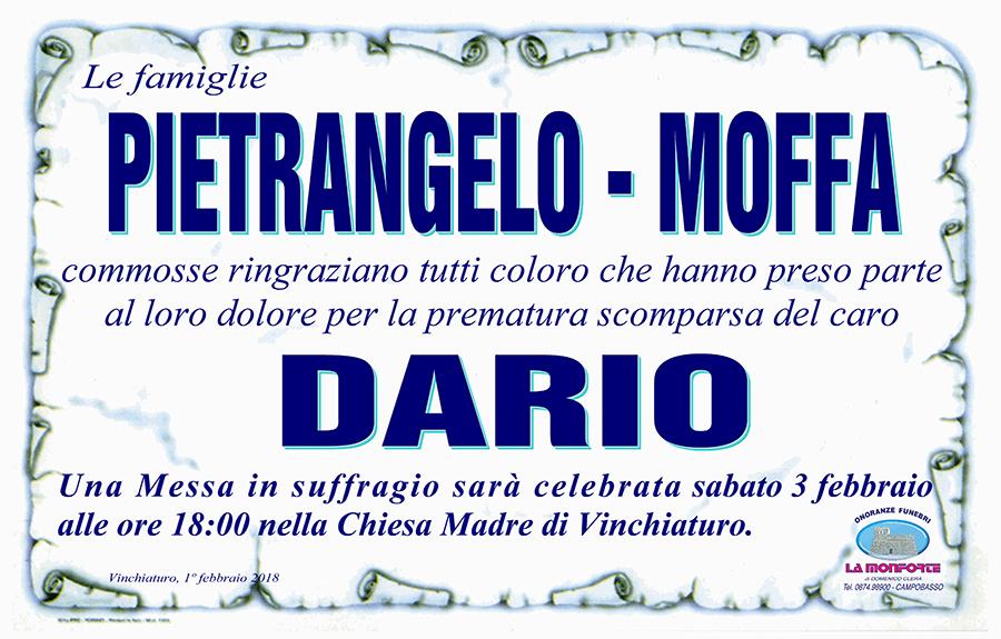 Ringraziamento Famiglie Pietrangelo-Moffa – Vinchiaturo