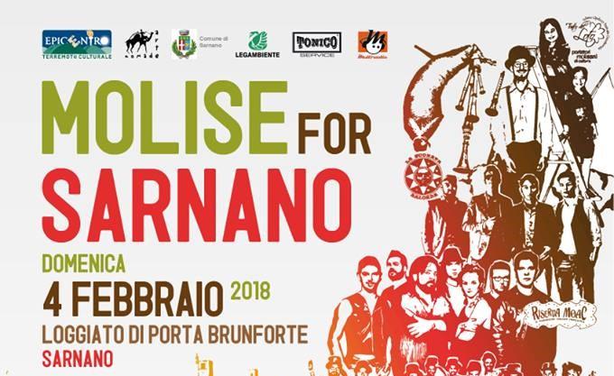 """Sisma centro Italia. """"Molise per Sarnano"""", presente anche """"il Molise Friend Festival"""""""