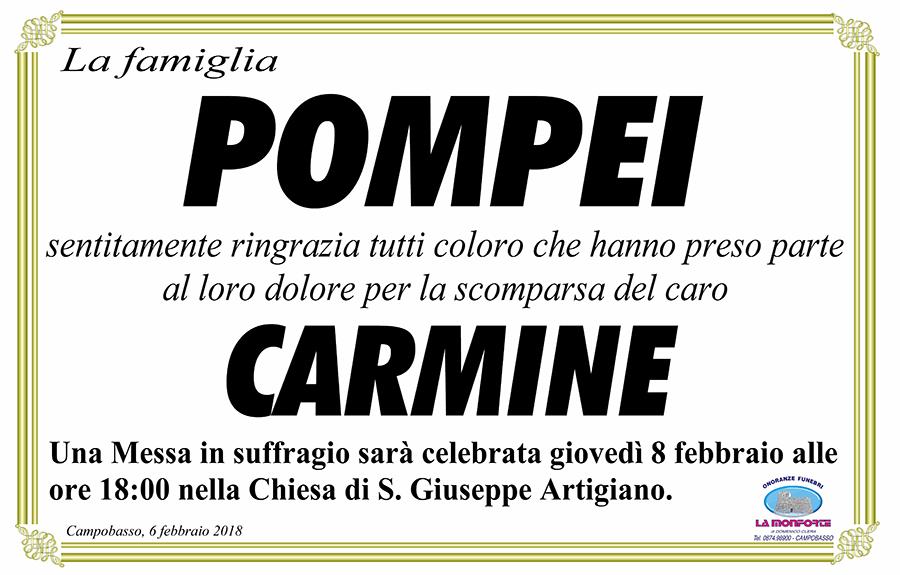 Ringraziamento Famiglia Pompei – Campobasso