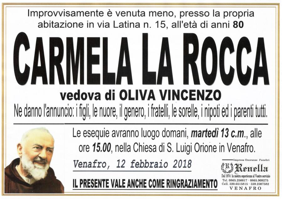 Carmela La Rocca – 12/0/2018 – Venafro – Impresa onoranze funebri Renella