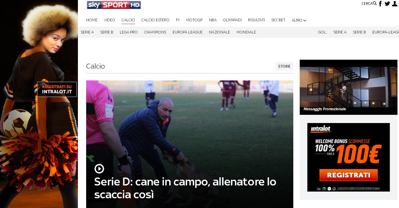 Lupo e Di Meo, la triste vicenda approda su Sky Sport