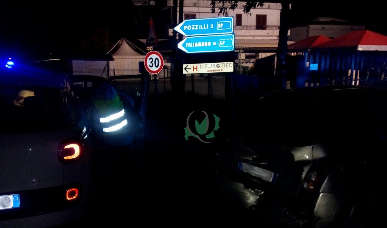 Tamponamento sulla SS 85 venafrana al bivio per Pozzilli, tre le auto coinvolte