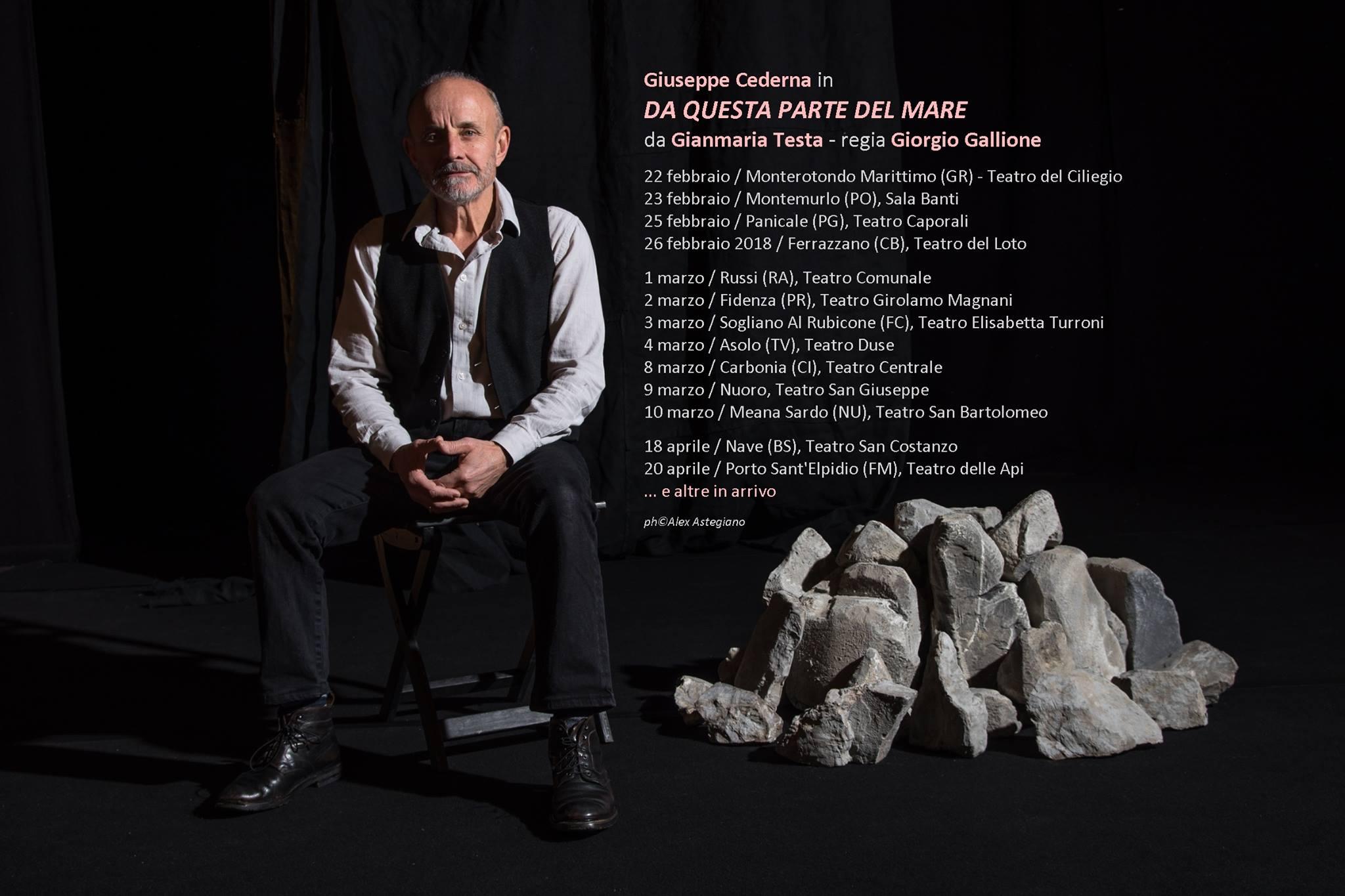 Giuseppe Cederna di scena al Teatro del Loto con 'Da questa parte del mare'