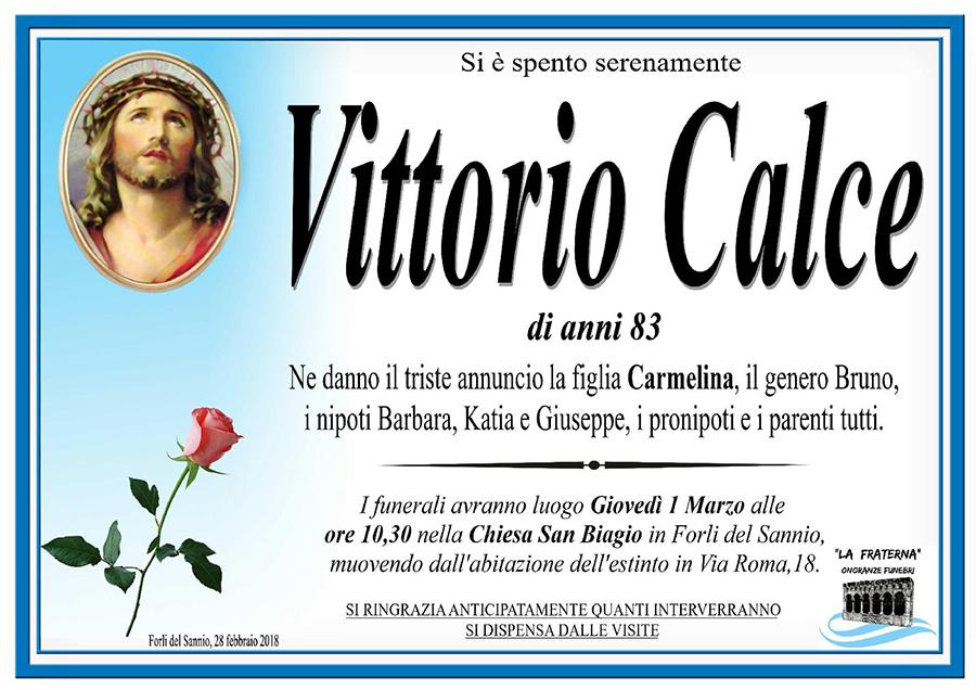 Vittorio Calce – 28/02/2018 – Forli del Sannio (Is) – Onoranze funebri La Fraterna