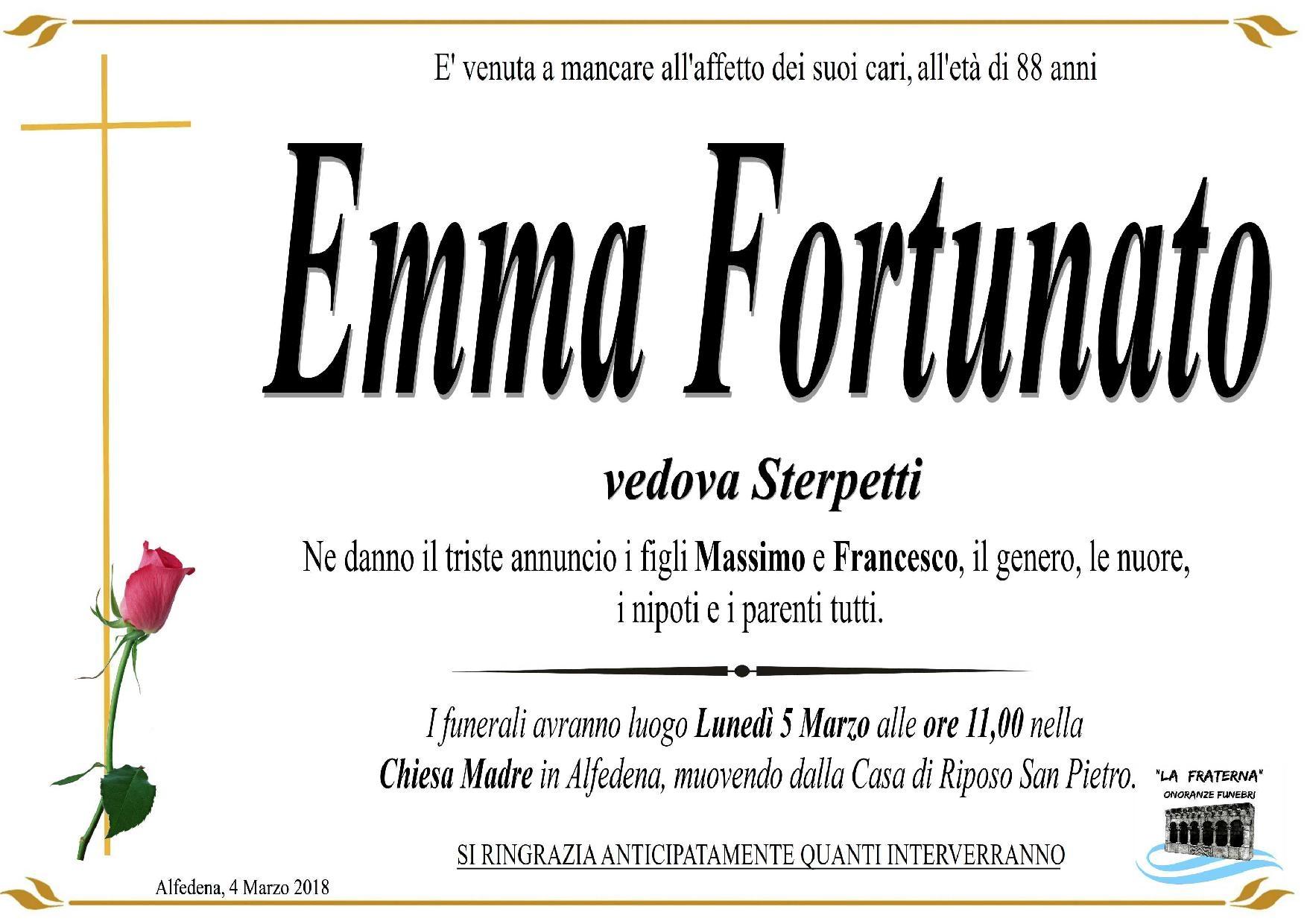 Emma Fortunato, 4/03/2018, Alfedena (AQ) – Onoranza Funebri La Fraterna