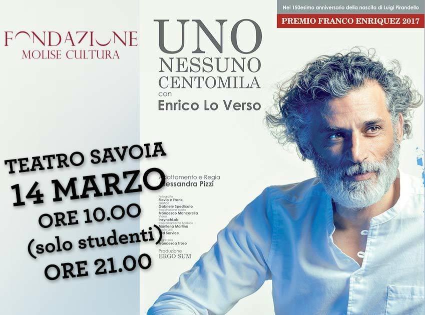 Enrico Lo Verso in scena al Savoia con 'Uno Nessuno Centomila'