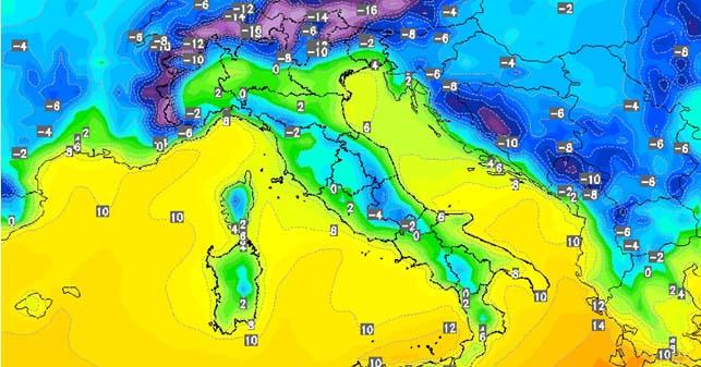METEO IN MOLISE – Weekend: gelo in Europa, piogge sul Molise