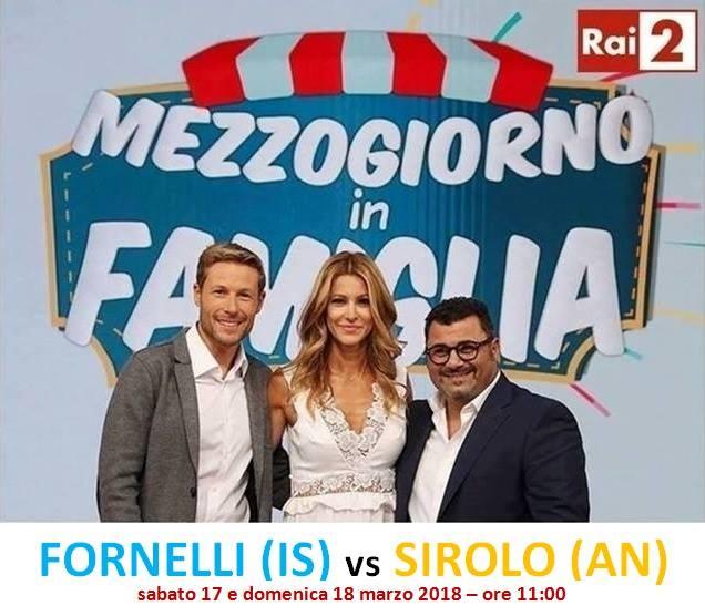 'Mezzogiorno in Famiglia', Fornelli sfida il comune di Sirolo