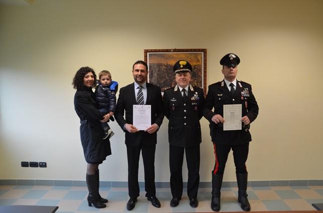 Carabinieri Venafro, premiato il coraggio di due militari