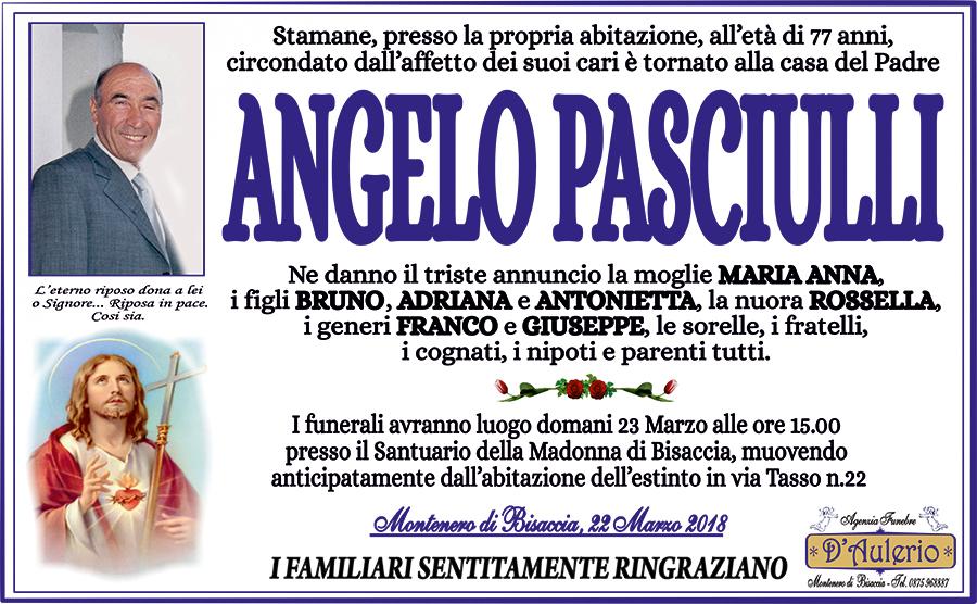 Angelo Pasciulli – 22/03/2018 – Montenero di Bisaccia (CB) – Agenzia funebre D'Aulerio