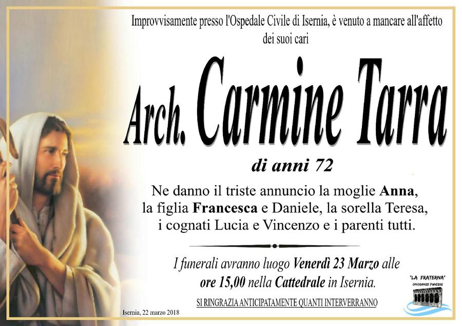 Carmine Tarra – 22/03/2018 – Isernia – Onoranze funebri La Fraterna
