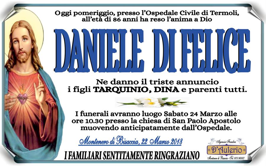 Daniele Di Felice – 22/03/2018 – Montenero di Bisaccia (CB) – Agenzia funebre D'Aulerio
