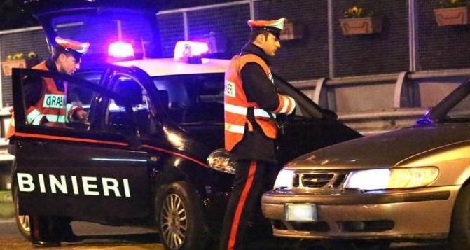 Abuso di alcool, controlli straordinari dei Carabinieri sul territorio