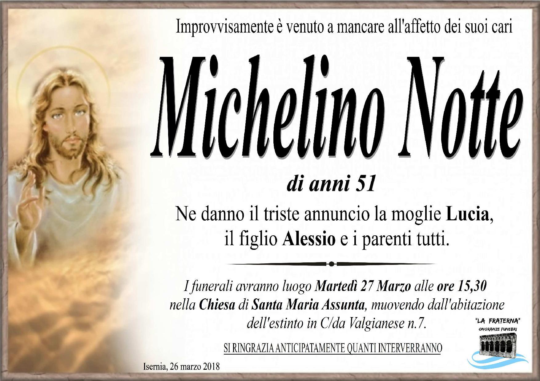 Michelino Notte – 26/03/2018 – Isernia – Onoranze Funebri La Fraterna