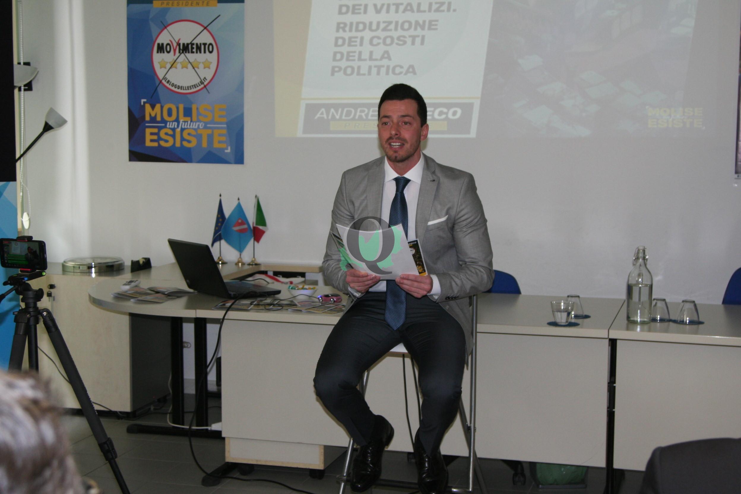 """M5S. Andrea Greco presenta il programma """"10 punti (+1) per il Molise"""""""
