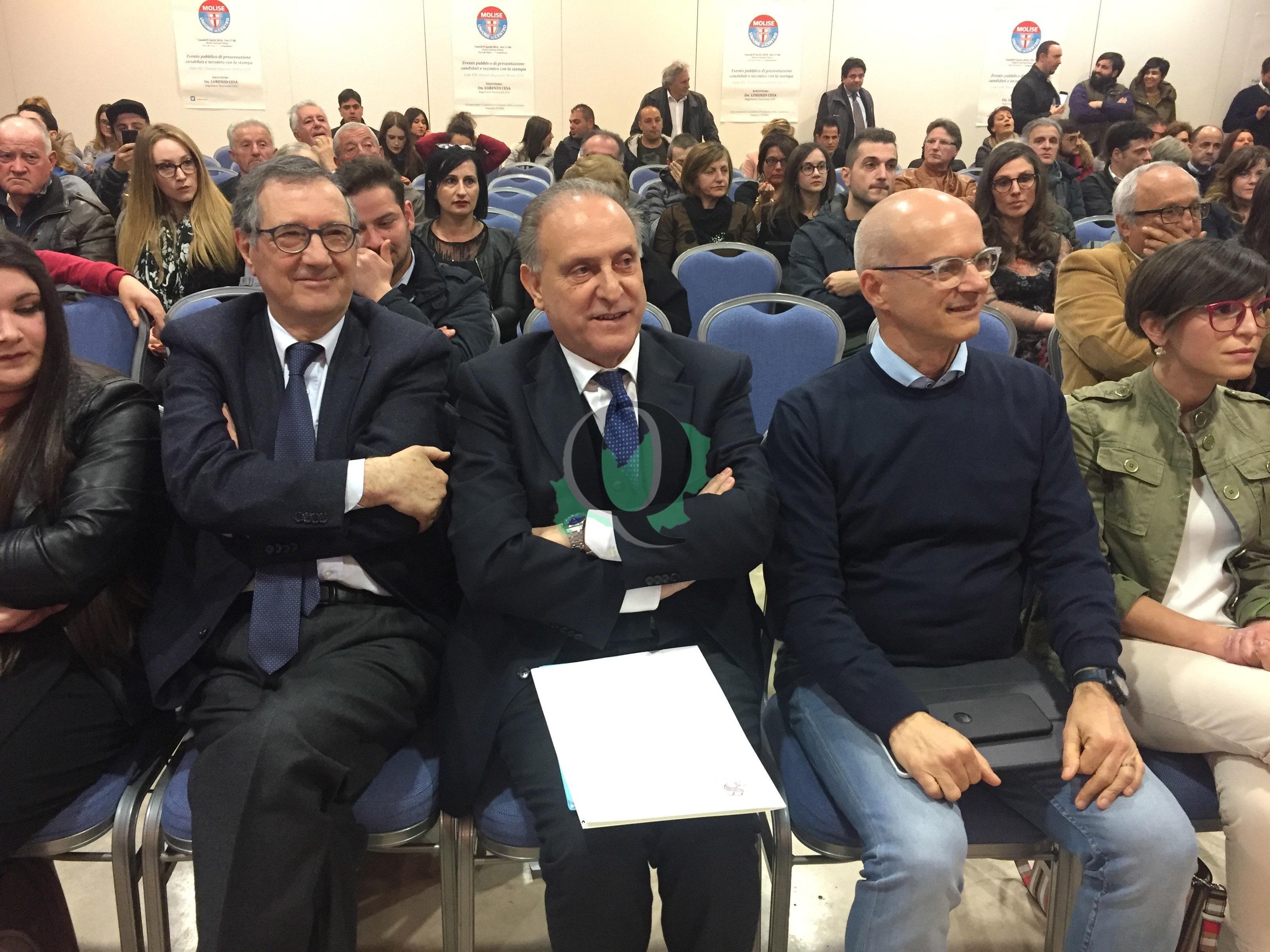 """Regionali. Cesa a Campobasso presenta la sua Udc: """"E' l'ora del fare"""""""