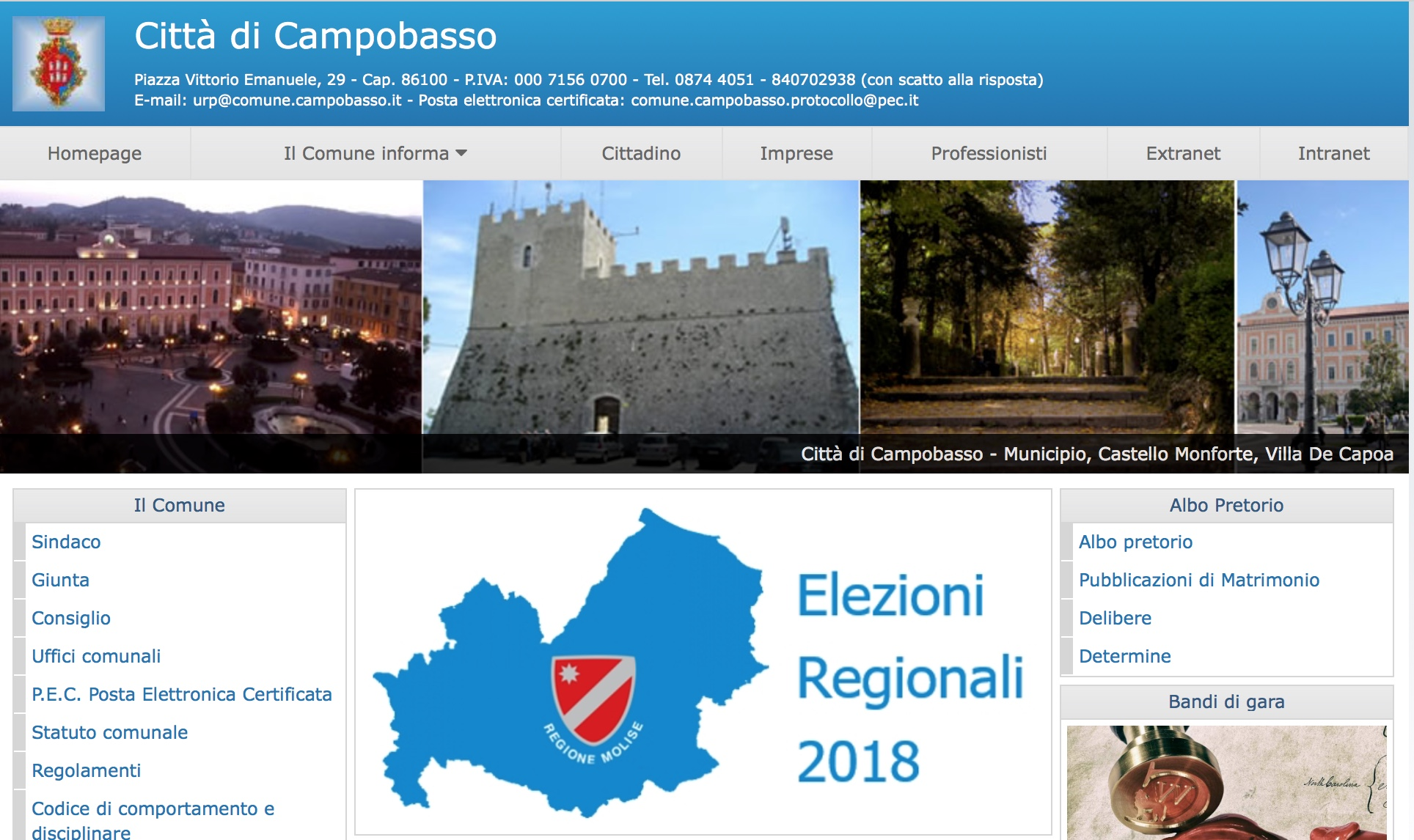 Elezioni, le informazioni riguardanti i seggi sul sito ufficiale del Comune di Campobasso