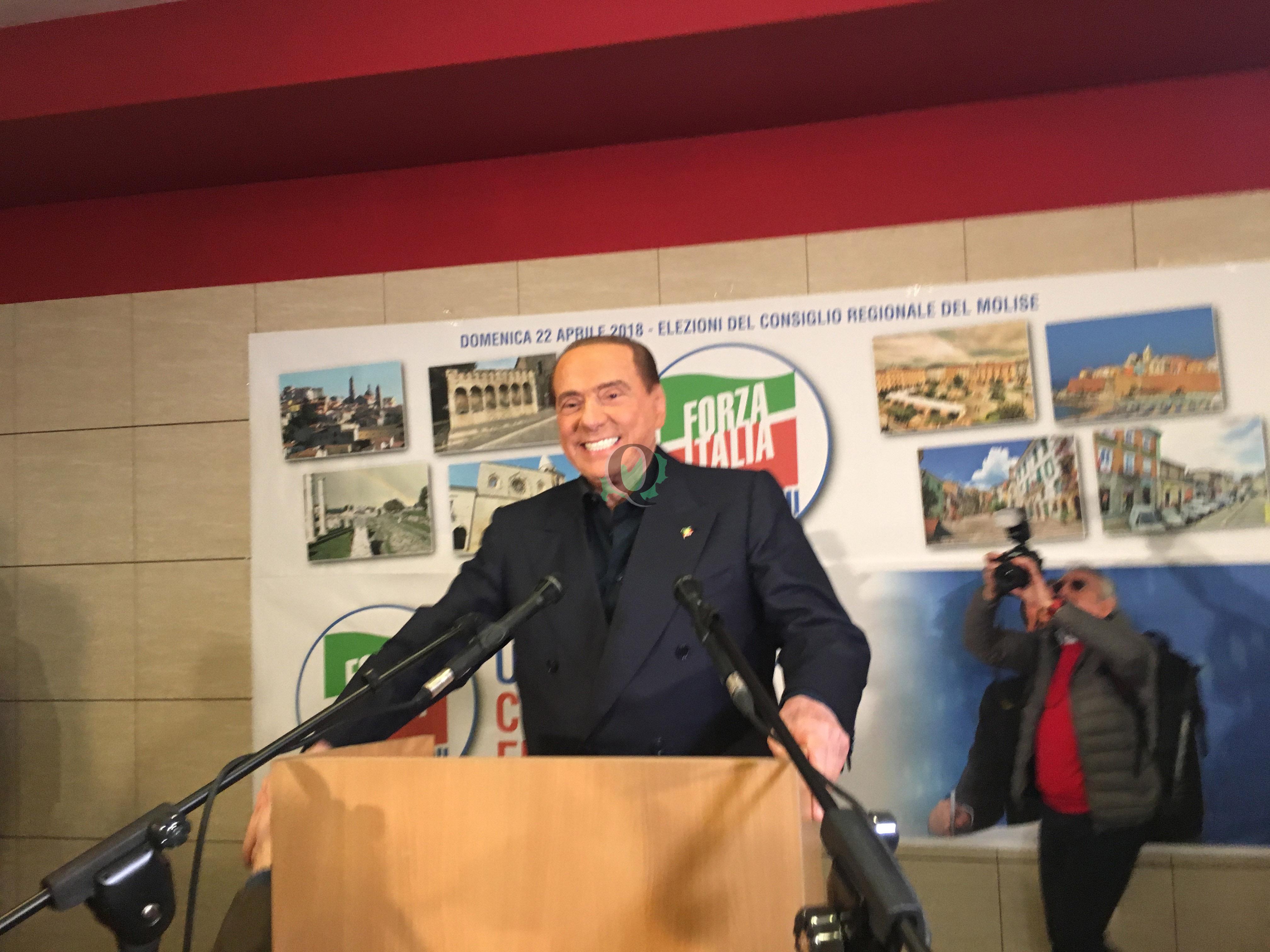 """Berlusconi a Isernia: """"Con Toma deciso cambio di rotta. Molto negativa per il Molise vittoria 5Stelle"""""""