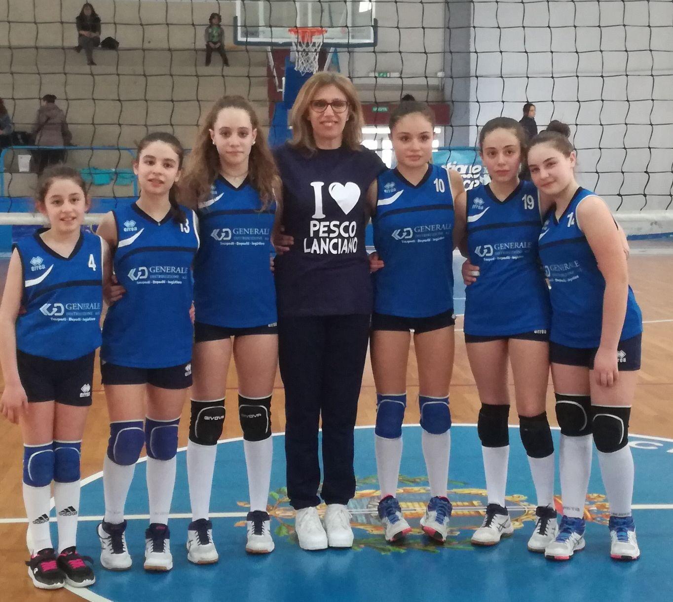 Volley femminile, l'Usd Pescolanciano accede alla fase nazionale del Campionato Under 14