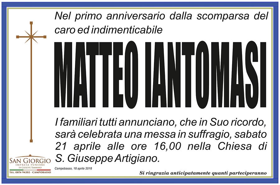 Anniversario Matteo Iantomasi – Campobasso