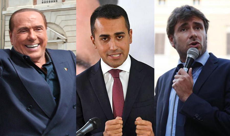 Venerdì 20, Di Maio e Di Battista a pochi metri da Berlusconi